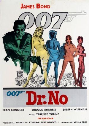 James Bond Dr No Yugoslavia, 1962 - original vintage James Bond 007 movie poster listed on AntikBar.co.uk
