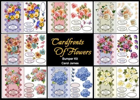 Card Fronts of Flowers Bumper Kit