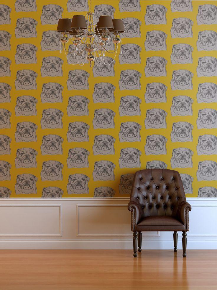 Bulldog Wallpaper – Mustard #dog #bulldog #wallpaper