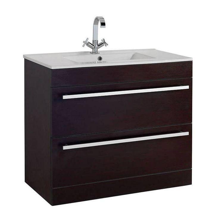 Odessa+Wenge+Floor+Mounted+900+Drawer+Unit+&+Basin