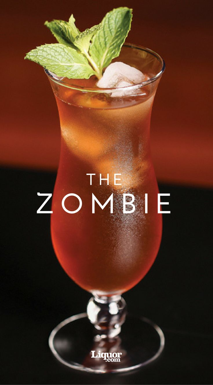 The Zombie is the perfect warm weather sipper. This tropical drink by legendary Donn Beach of Don the Beachcomber restaurant kicked off the Tiki craze.