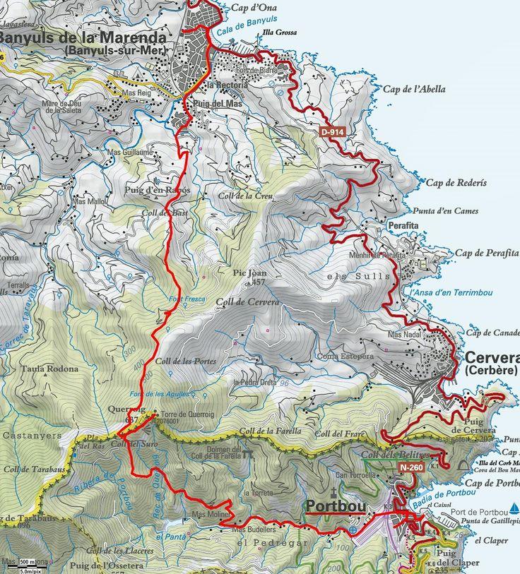 Mapa de la ruta Walter Benjamin