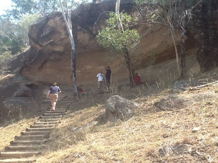 Local sacred site at Broke NSW. Baime's Cave.