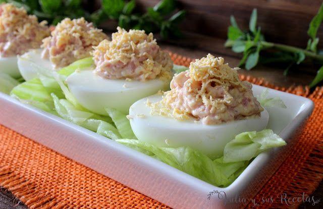 huevos, ensaladas, comida sana, recetas fáciles, Julia y sus recetas, huevos rellenos, comidas frías