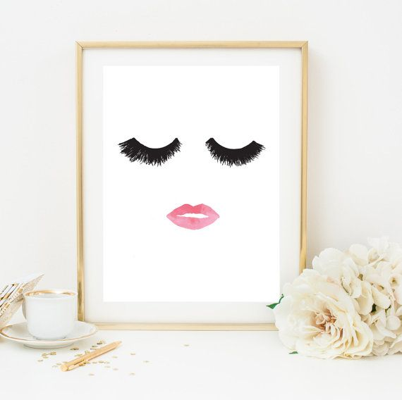 Makeup Print Wall Decor Beauty Print Wall Art by LovelyPosters