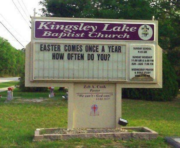 Double entendre. | 23 Church Signs That Are Better At Humor Than You