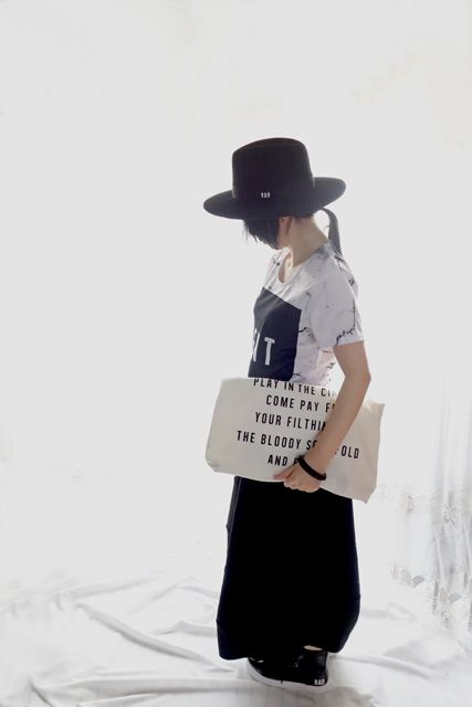LIVE TOUR 15-16 DOGMATIC -DUE- CANVAS TOTE BAG / WH