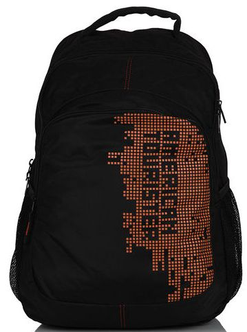 Save 10% OFF ON American Tourister Black/Rust Backpack.