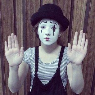 57 best Mime images on Pinterest | Halloween makeup, Mime makeup ...