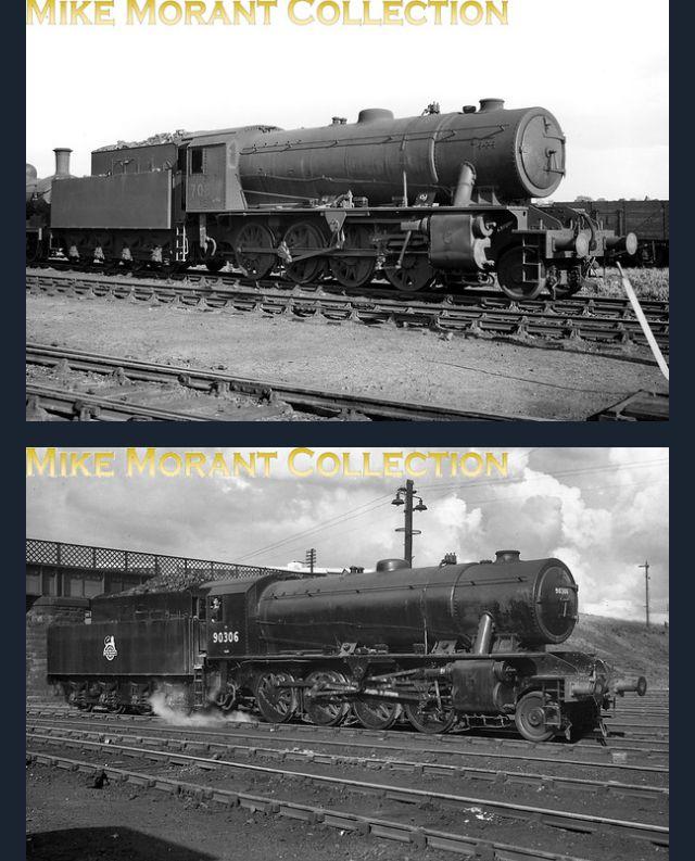 BR Standard 5MT Shrewsbury Steam Train Blank Birthday Fathers Day Card