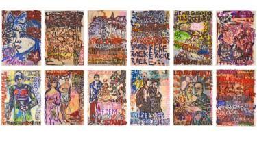 "Saatchi Art Artist Ahmed Borai; Painting, ""Witwe Bolte, Newspaper Art Novel, Edition of 12 originals"" #art"