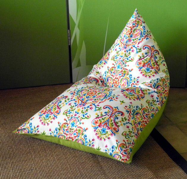 KINDER SITZSACK  BUNTE ORNAMENTE von Donnalupinas Textilwerkstatt auf DaWanda.com