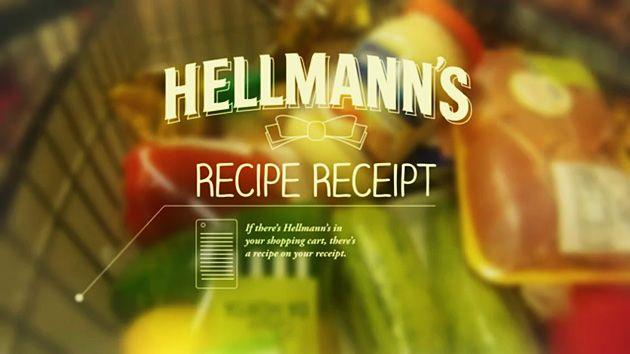 Hellmann's e a receita no cupom de compra
