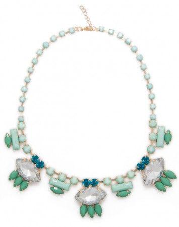Popetto Blue Art Deco Necklace