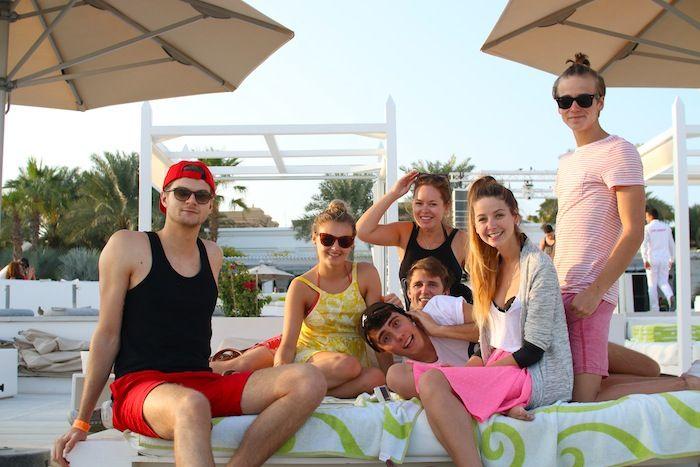 A few of the gang in Dubai. Joe's pony!!!