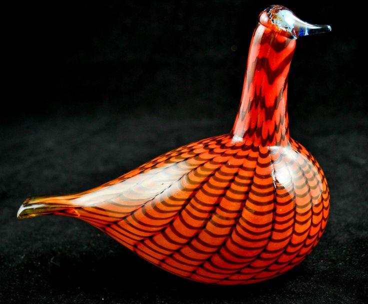 RARE Iittala Toikka Nuutajarvi Glass Art Bird Finland Signed Original Sticker   eBay
