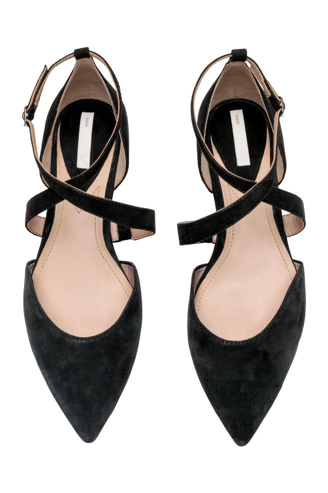 2d0e43336 Ballet pumps with a strap in 2019 | Style | Suede flats, H&m heels ...