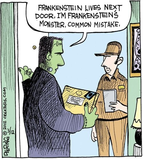 Frankenstein's Monster  AT LAST THE EPITOME OF MY FRUSTRATIONS