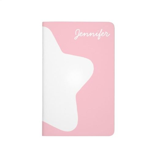 Cute Baby Pink Star Pastel-Colored Customizable Pocket Journal