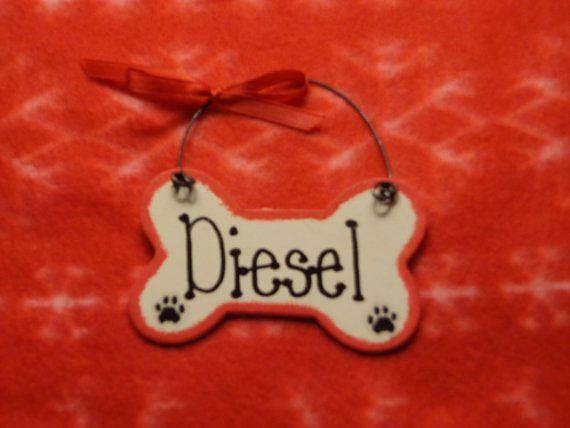 Dog bone wood ornamenthand by karenzkrea8nz on etsy for Dog bone ornaments craft