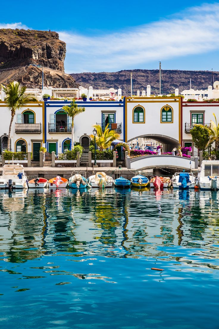 The stunning port in Puerto de Mogán on the south-west coast of Gran Canaria. #GranCanaria #CanaryIslands