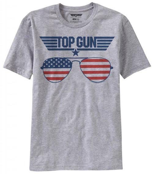 Top Gun American Flag Sunglasses T-Shirt