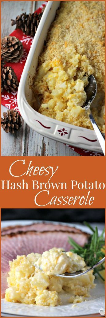 Cheesy Hash Brown Potato Casserole | by Renee's Kitchen Adventures - easy recipe for cheesy potatoes that makes the perfect side dish for any occasion. #ForTheLoveofHam ad