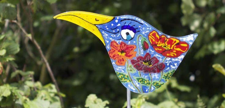 Grote vogel van glas