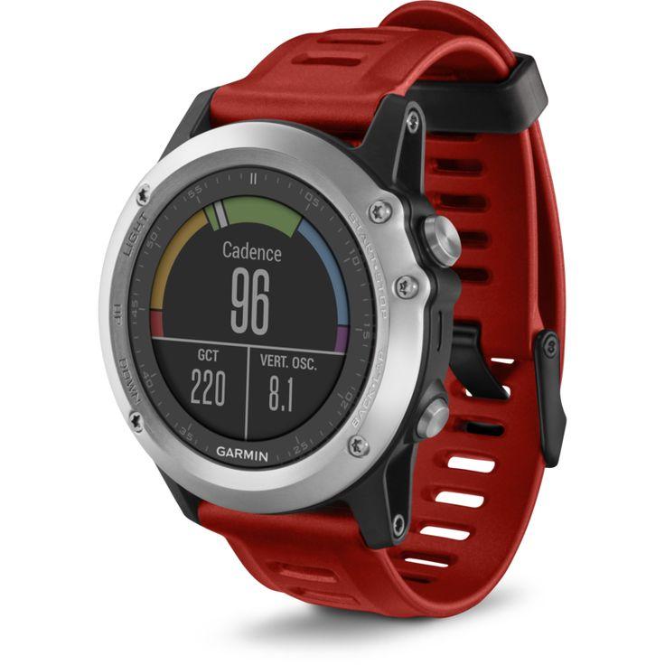 Garmin Fenix 3 Watch Performer Bundle with HRM-Run | Silver/Red