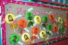 sweet as candy bulletin board!