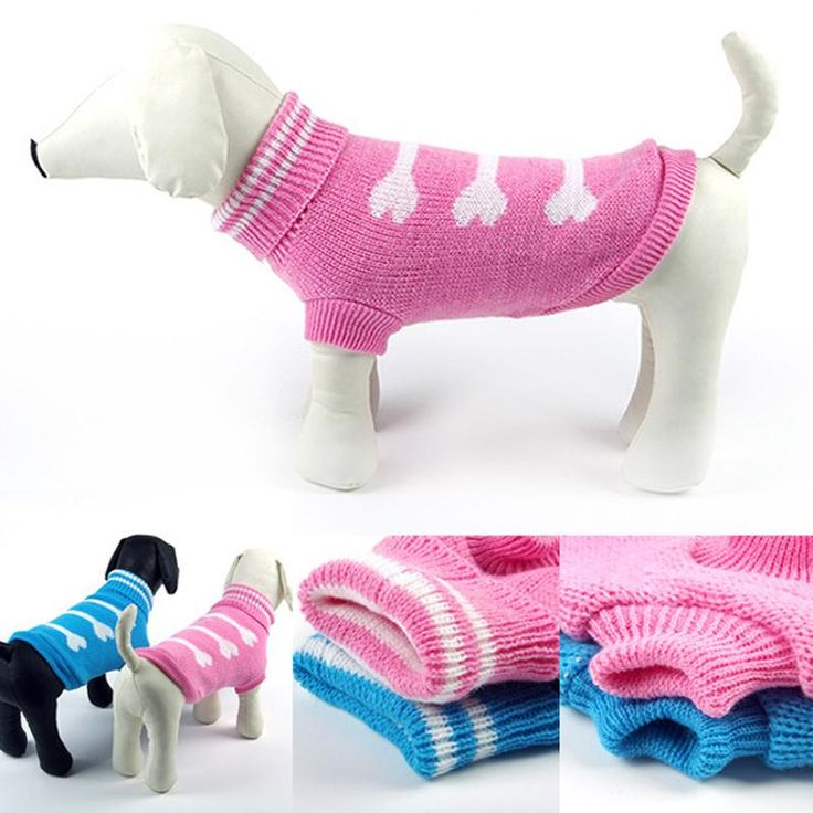 Dog Sweater  Dog Clothes Bone The Bold Color Pet Coats Lovely Pet Sweater
