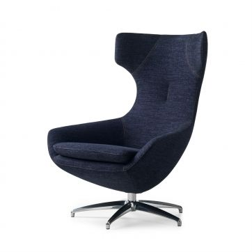 Comfortabele earchair in prachtig denim: Fauteuil Caruzzo
