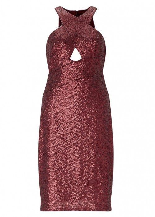 AIDAN MATTOX SEQUIN COCKTAIL DRESS - SIZE UK 8. #aidanmattox #cloth #