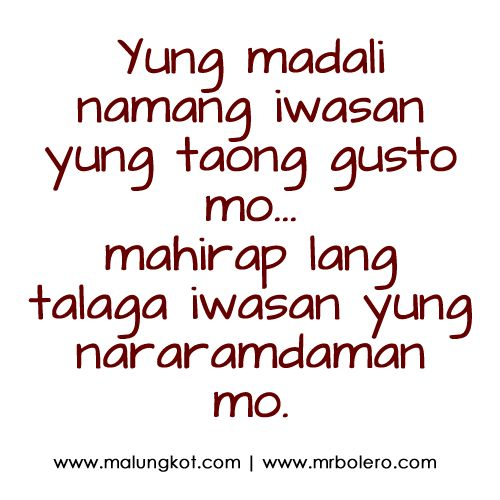 sad quotes tagalog about crush and dating