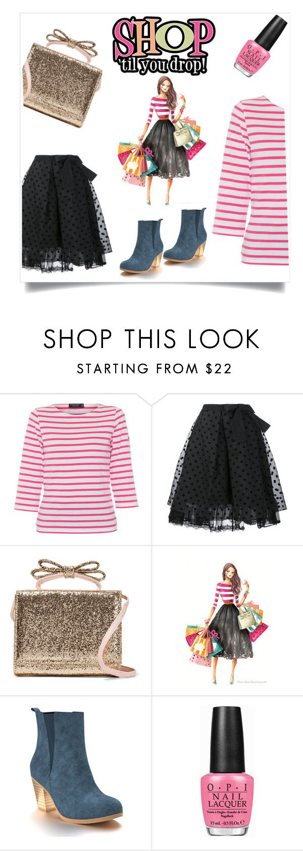 """Shop til you drop"" by im-karla-with-a-k ❤ liked on Polyvore featuring Saint James, Marc Jacobs, RED Valentino, Shoes of Prey and OPI"