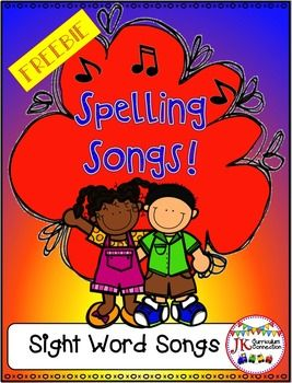 Music is a KEY memory device and these Spelling songs will help your students remember how to spell Sight words. This FREE file includes colorful song cards for 2-, 3-, 4-, 5-, 6-, and 7-letter words.  Complete directions for using these handy songs are included.
