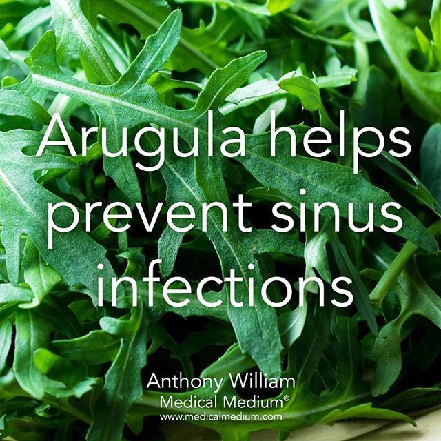 Arugula helps prevent sinus infections