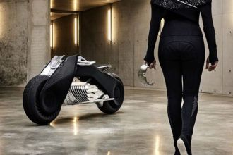 BMW Motorrad Vision Next 100 : la moto du futur se conduira sans casque