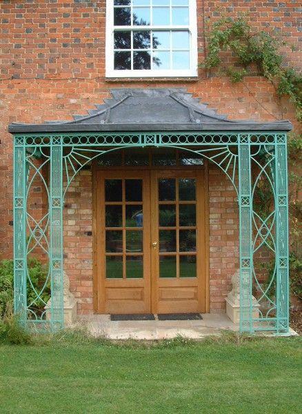 Porches & Verandas, Canopies, Verandahs in Wrought Iron Metal Copper