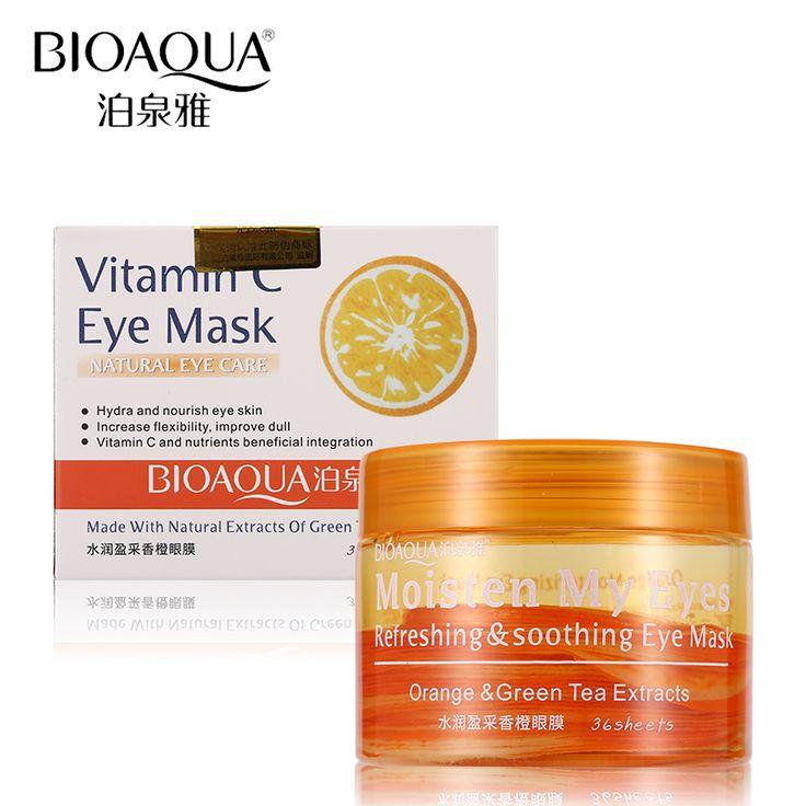 #AliExpress BIOAQUA Brand Eye Mask Orange Vitamin C Skin Care Remove Dark Circle Moisturizing Anti-wrinkle Anti-aging Eye Masks (32585848183) #SuperDeals