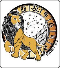 Leo zodiac sign.Horoscope circle.Vector Illustration vector art illustration