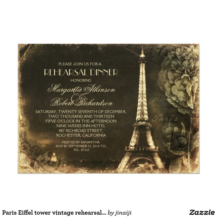 fairytale bridal shower invitation wording%0A Paris Eiffel tower vintage rehearsal dinner Card  Gold Wedding InvitationsEngagement  Party InvitationsRehearsal