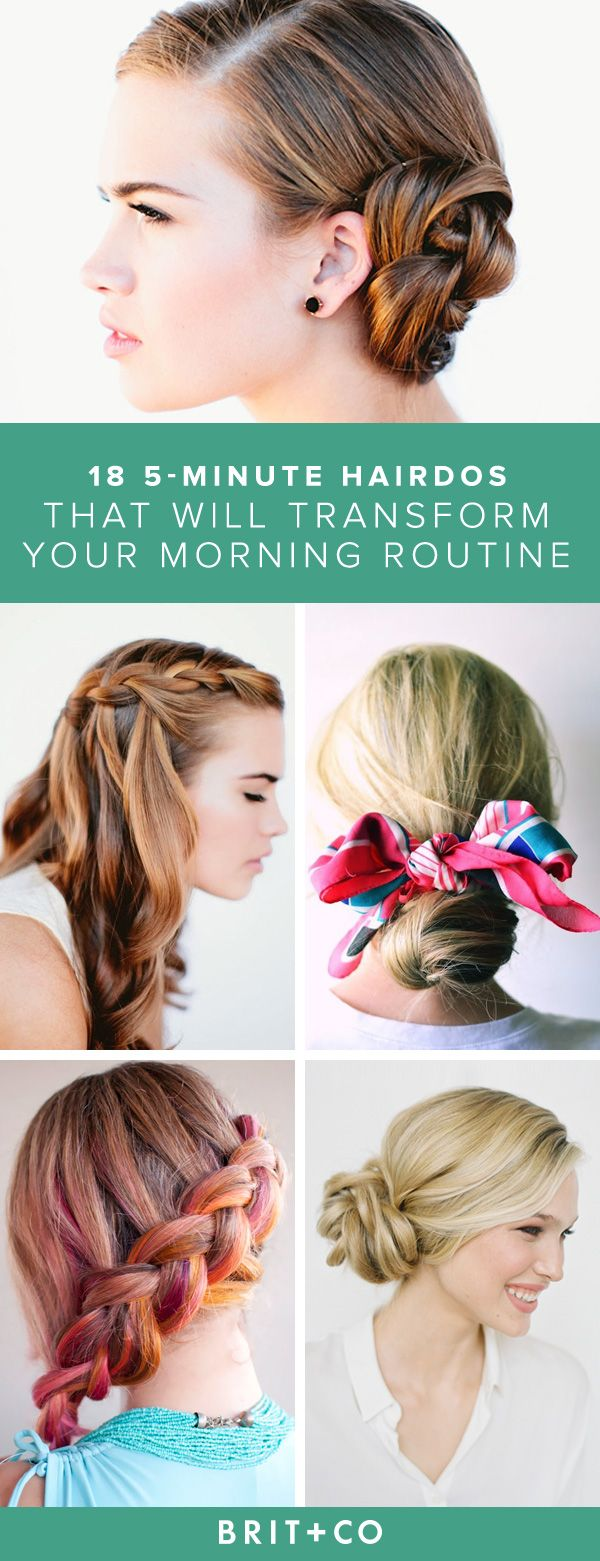 Bookmark this + you'll discover an assortment of hairstyle tutorials that you can to in 5 minutes or less. From an updo to braids, there's a 'do for every girl.