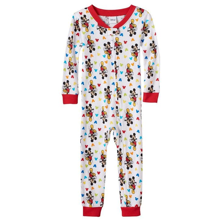 Disney's Mickey Mouse Baby Boy One-Piece Pajamas, Size: 18 Months, Multicolor