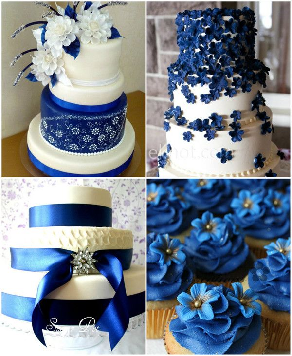 royal blue wedding centerpieces   ... wedding. Here are some gorgeous royal blue wedding cakes for your