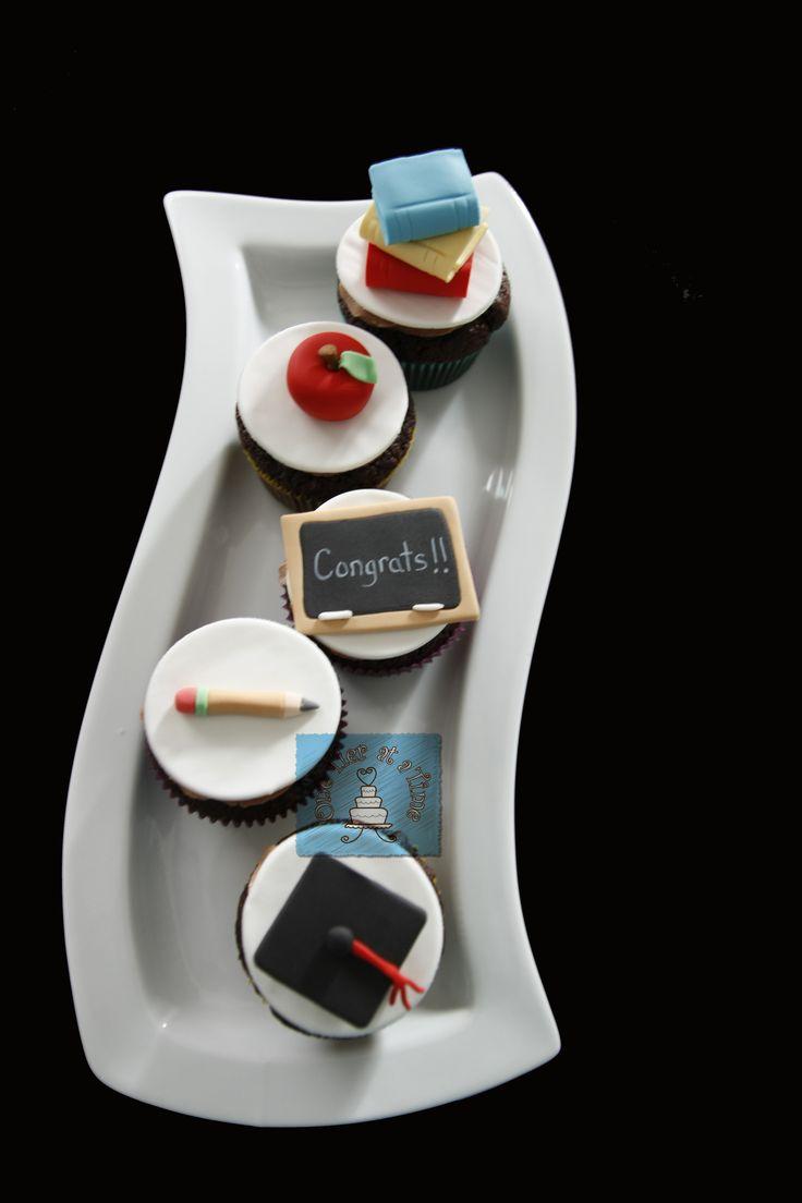 graduation cupcakes. Teacher. Kahlua cupcakes