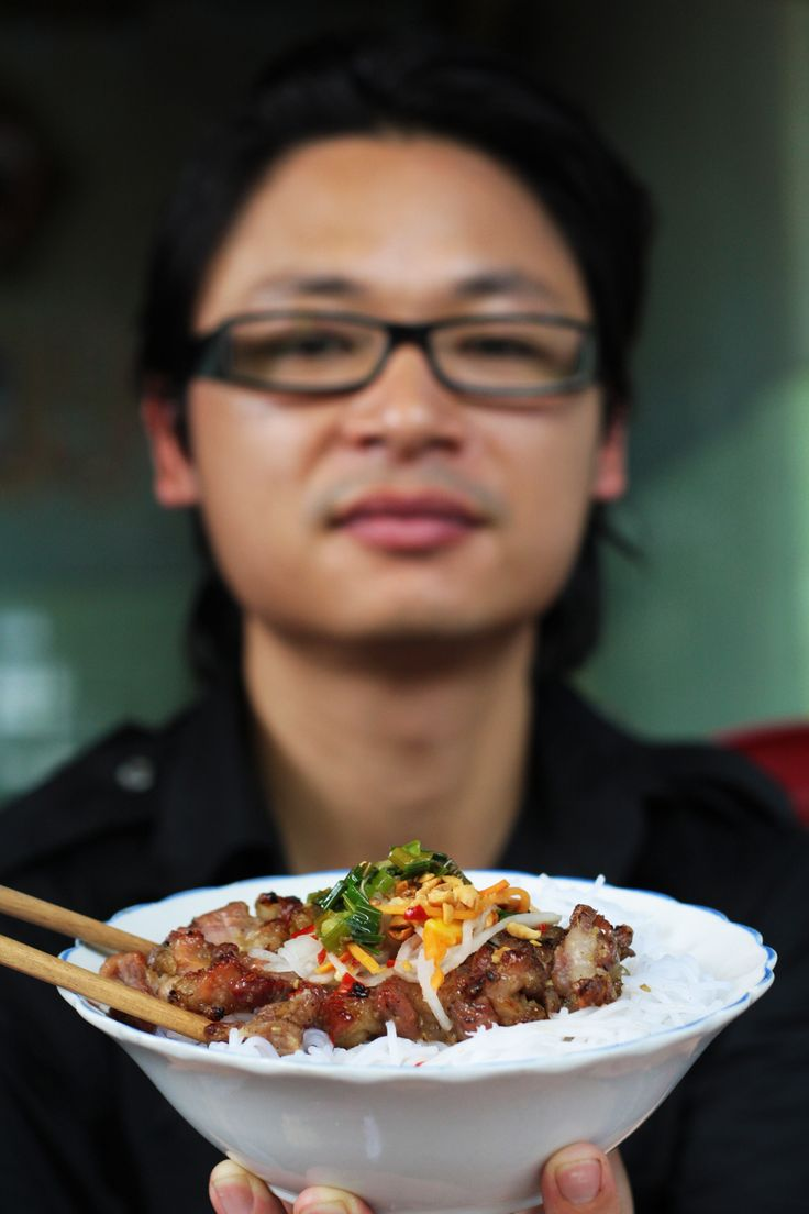 Char Grilled Pork Neck with Vermicelli Noodles: Bun Thit Nuong from CookingChannelTV.com