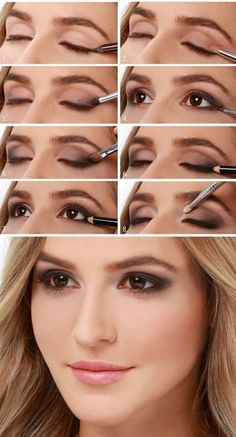 tuto maquillage yeux très élégant en marron clair et foncé