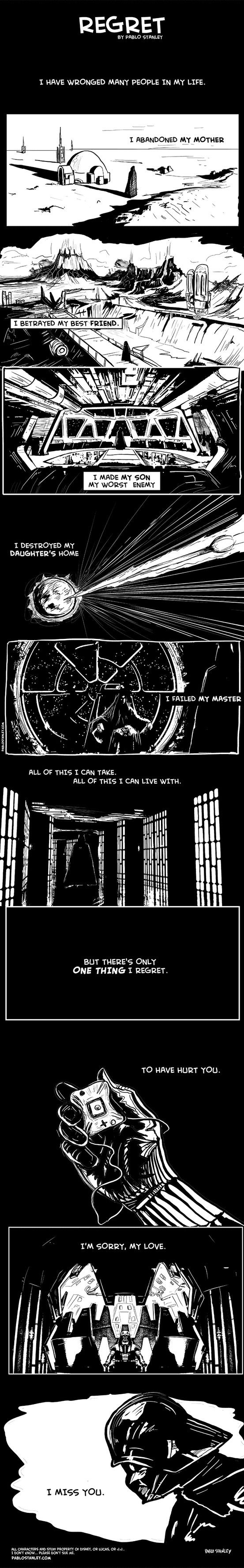 An amazing Star Wars Comic by Pablo Stanley.