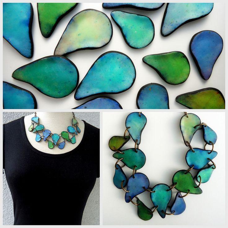 by Anarina Anar polymer jewelry necklace